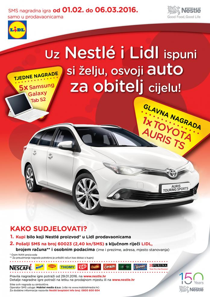 Uz Nestlé i Lidl ispuni si želju, osvoji auto za obitelj cijelu!